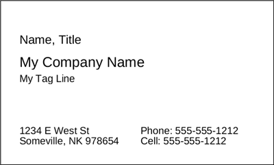 Business Card black & white - (Advanced)